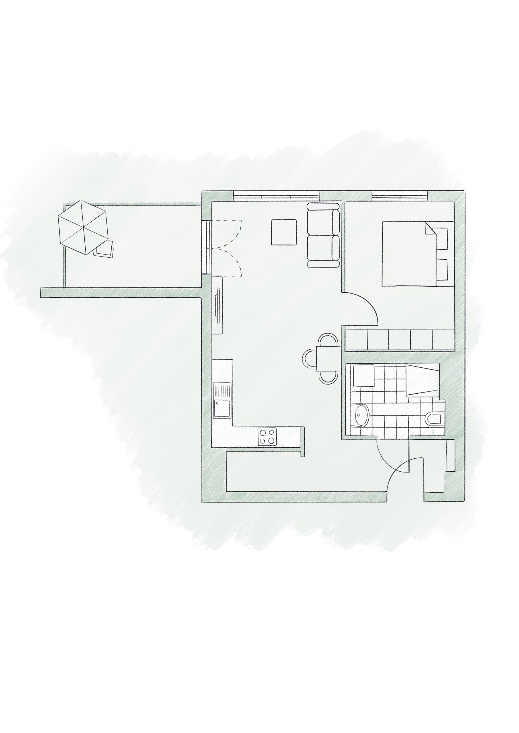 Планировка Квартира в пригороде Берлина